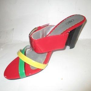 Retro! CATO Red Yellow Strappy Sandals